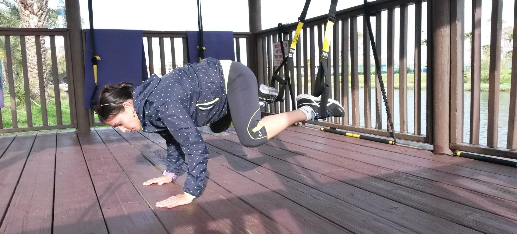 אימון בטן TRX